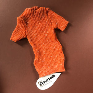 Vintage Baby French Orange Flecked Stretch Top 6-12 M