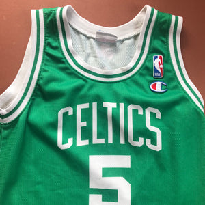 Retro Kids Champion NBA Basketball Celtics Jersey Top 8-10 Y