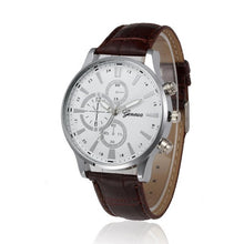 Geneva Leather Men's Watch