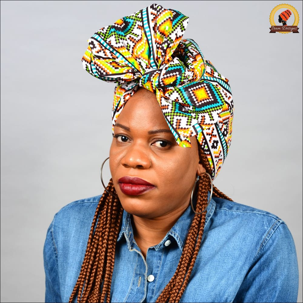 African Kente Bright Head Wrap