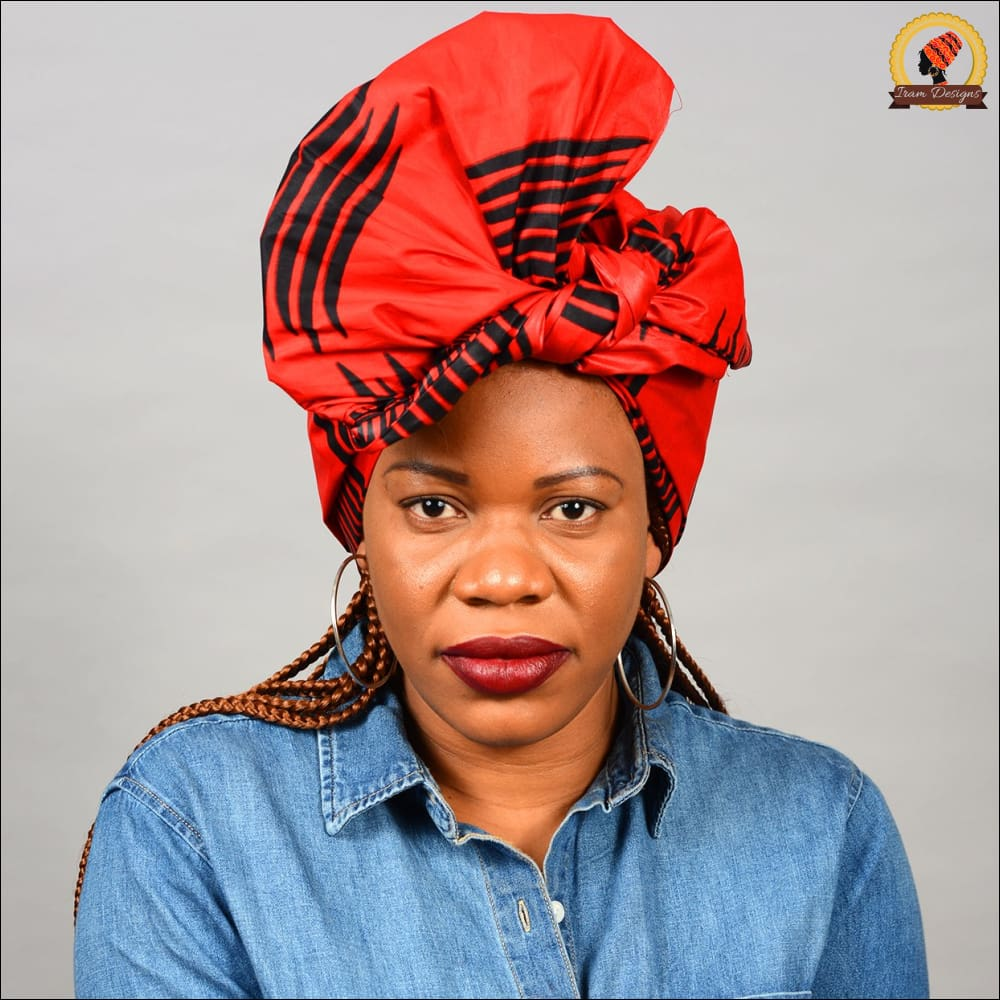 African Red Wax Head wrap