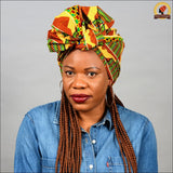 African Scratchy Kente Head Wrap