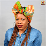 African Stripy Kente Head Wrap
