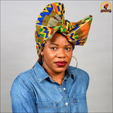 African Zigzag Kente Head Wrap
