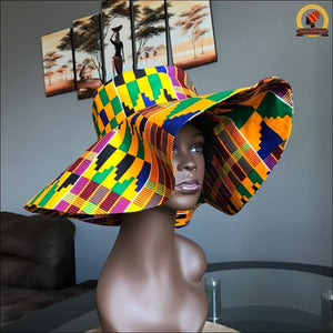 Busy Kente Sun Hat