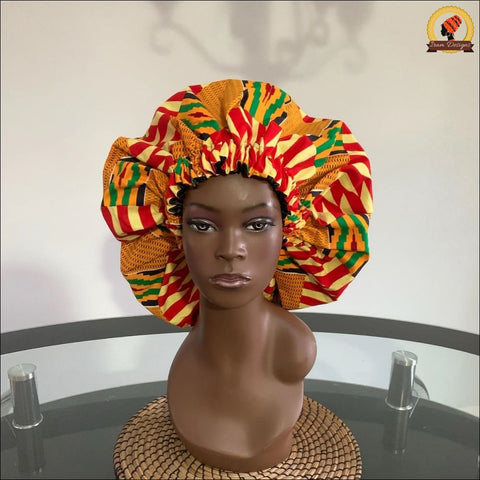 Ghana Traditional Kente Bonnet double sided