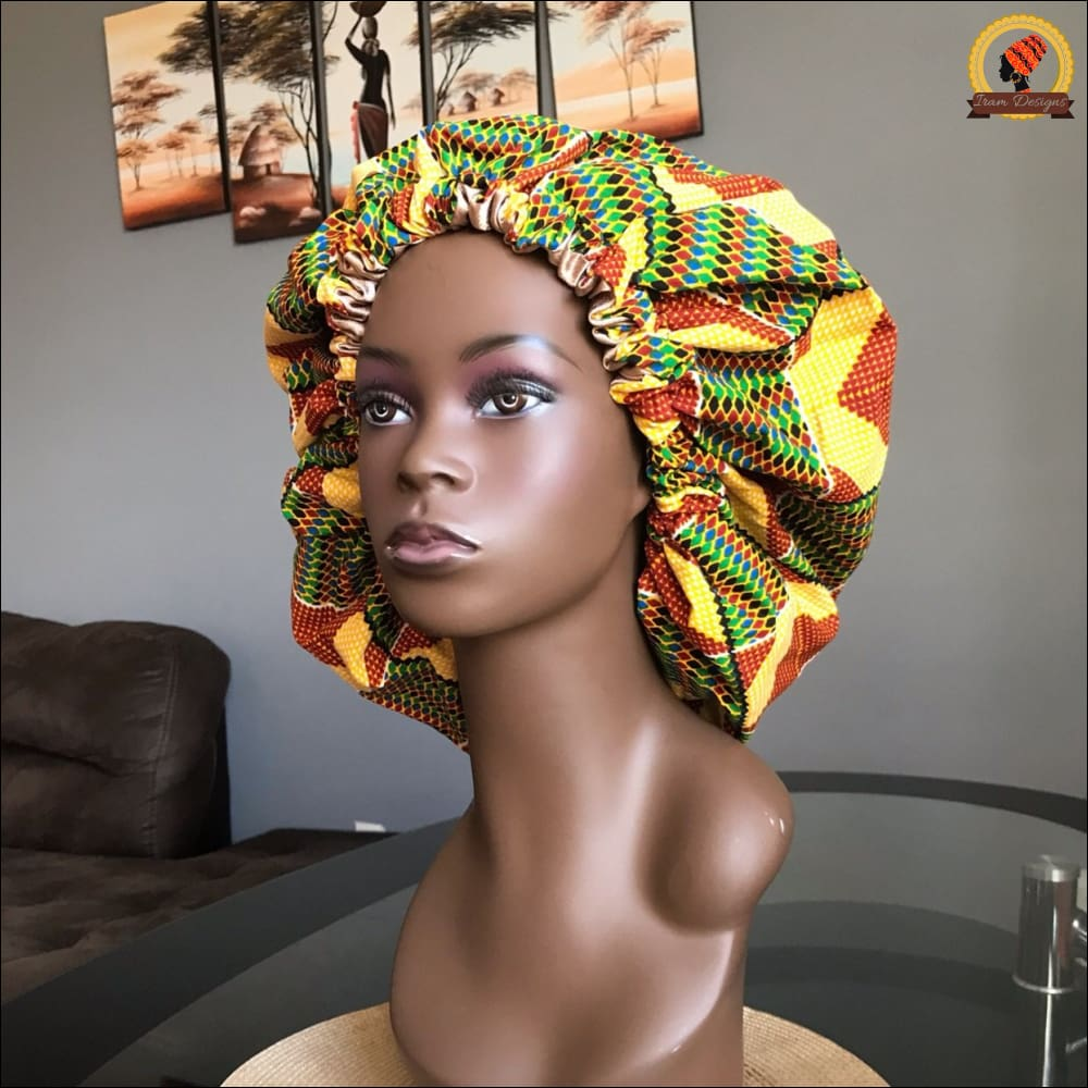 Scratchy Kente Bonnet
