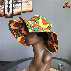 Scratchy Kente Sun Hat