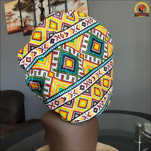 Showy Kente Bonnet