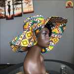 Showy Kente Sun Hat