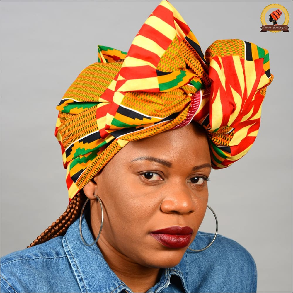 Traditional Ghana Kente Head Wrap