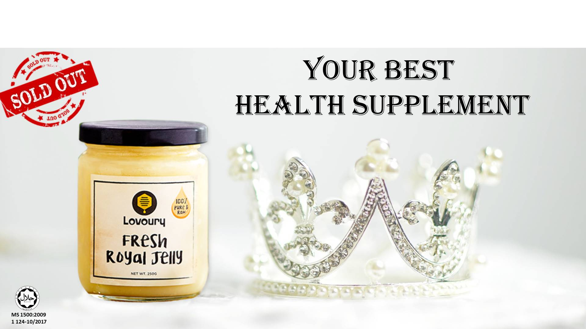 fresh royal jelly sold out
