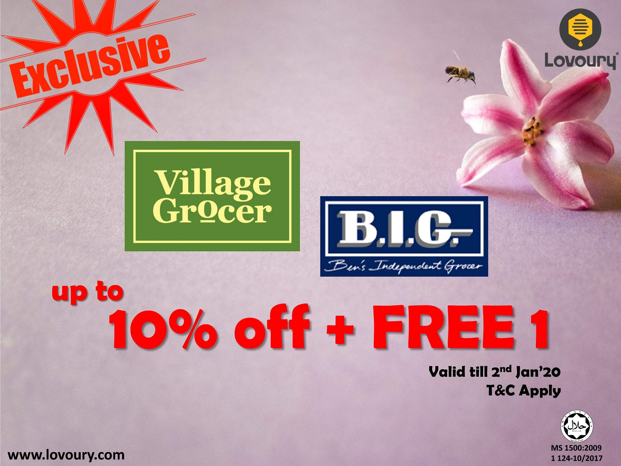 buy 1 free 1 exclusively for village grocer and ben's independent grocer