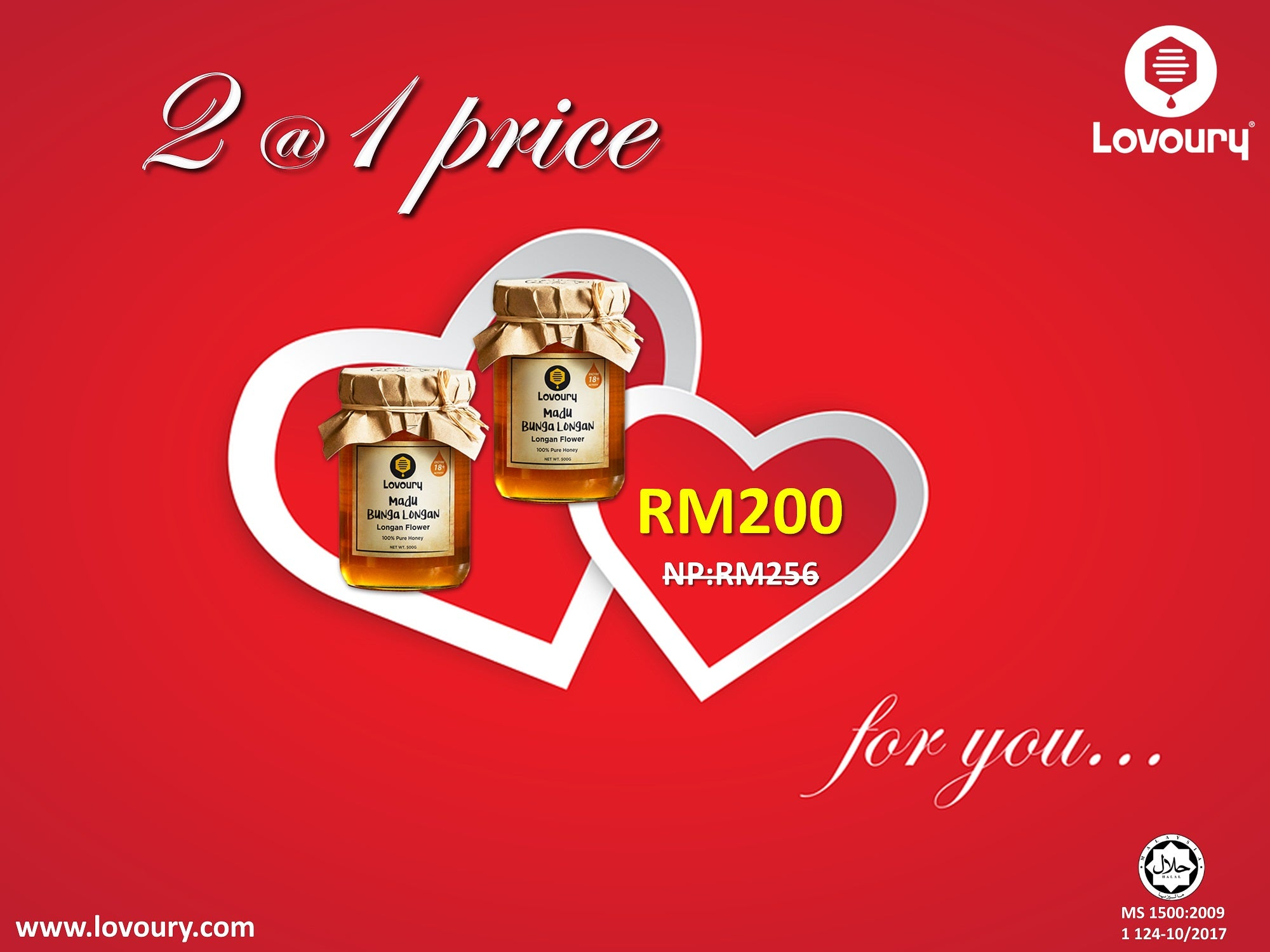 Longan Flower Honey 2@1 Price Valentine's Special Offer