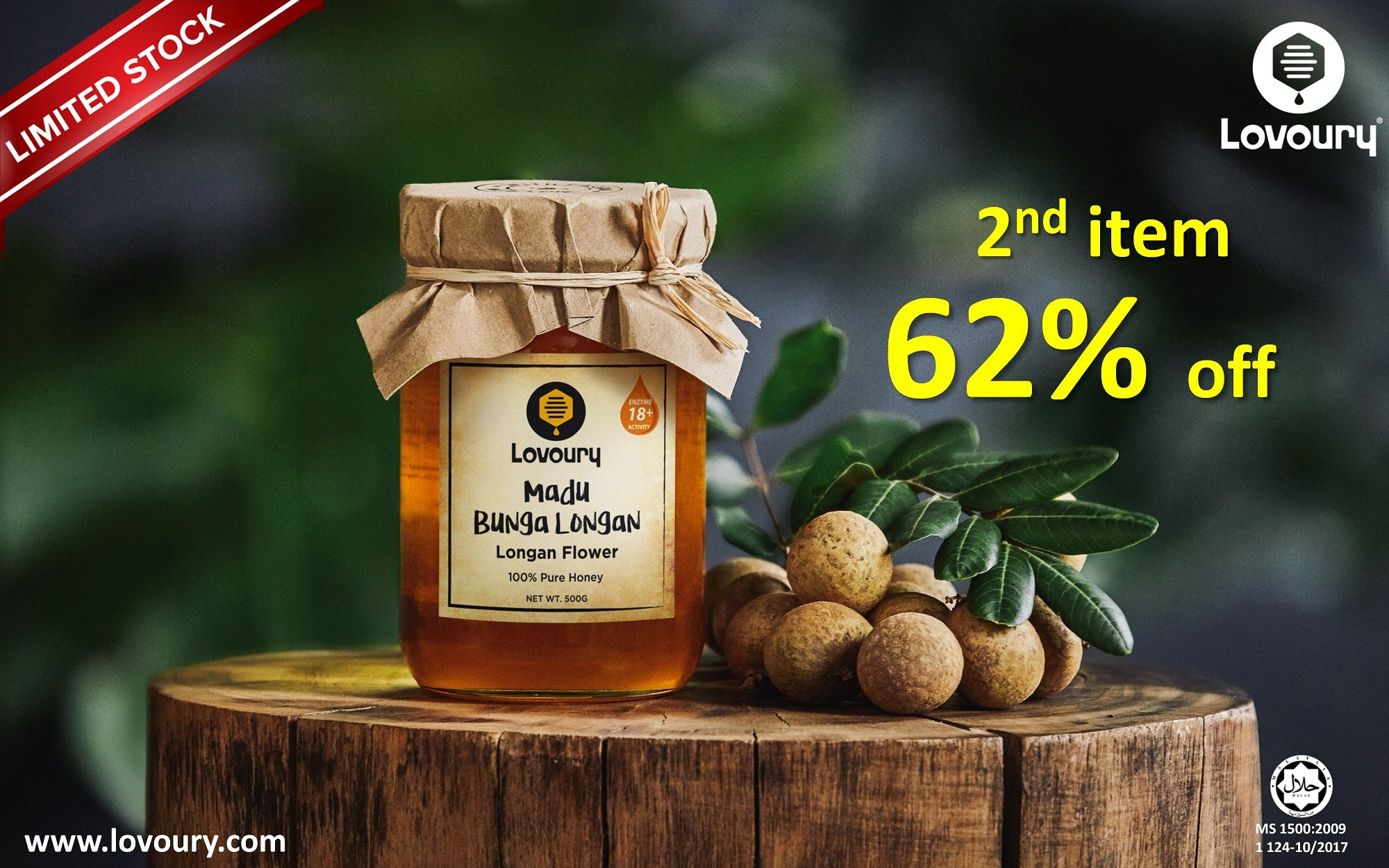 Lovoury Longan Flower Honey @ 500g sale