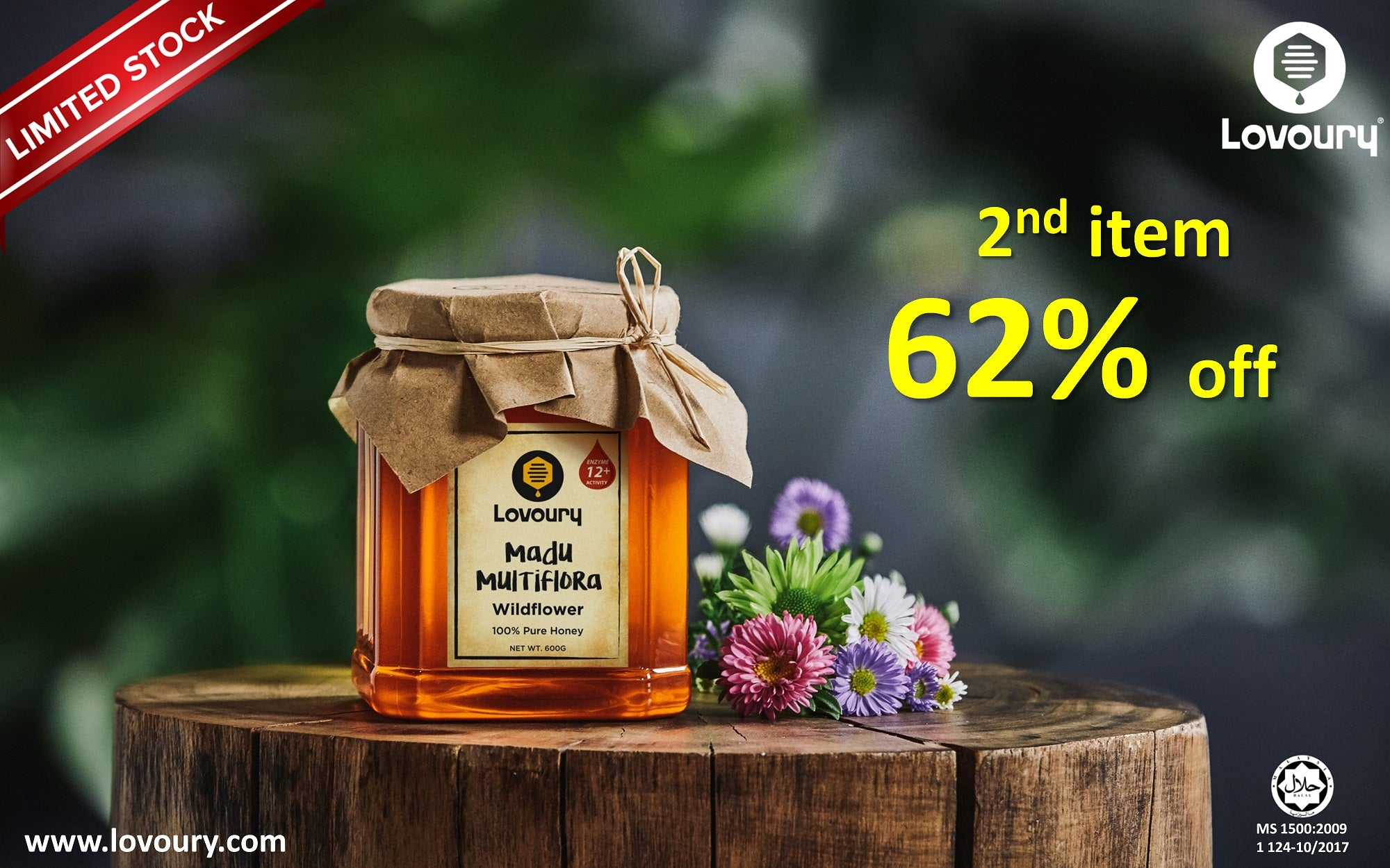 Lovoury Wildflower Honey @ 600g sale