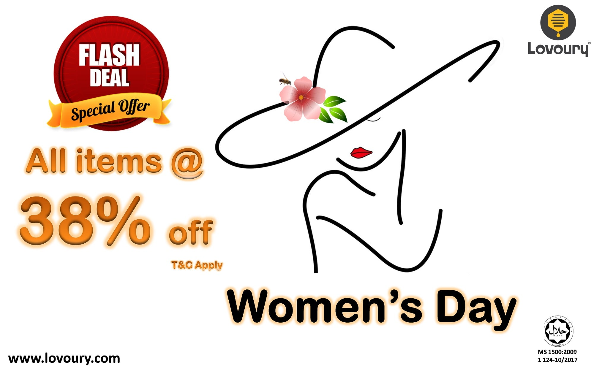women's day flash deal special offer