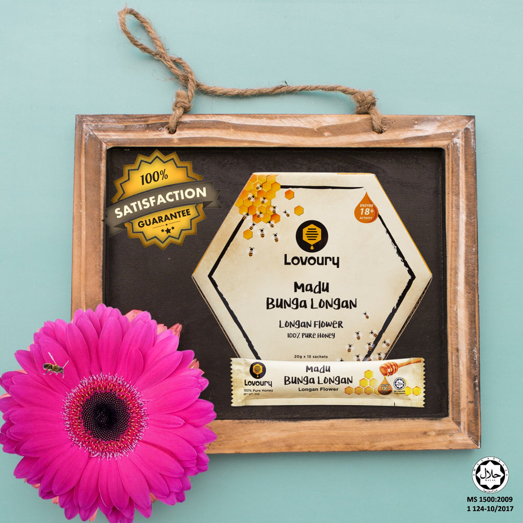 Lovoury Longan Flower Honey Sachet Pack @300g