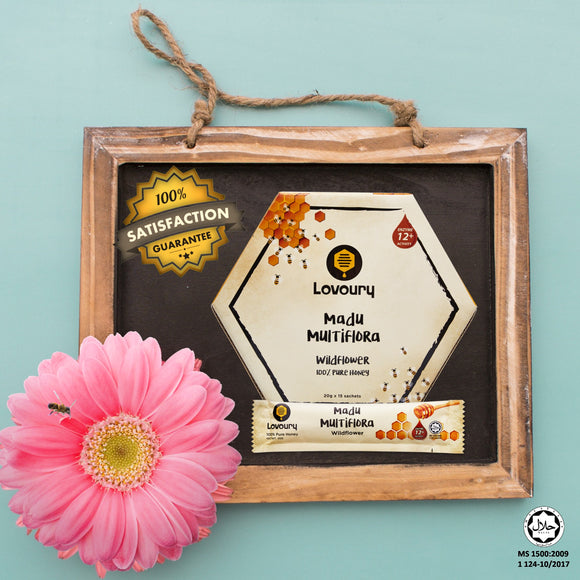 Lovoury Wildflower Honey Sachet Pack @300g