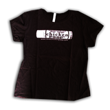 ChickenPoop Tube Design Tee - Women's Black