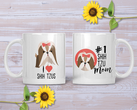 Love My Shih Tzu Mug - Watercolor Multi – Girls With Pooches