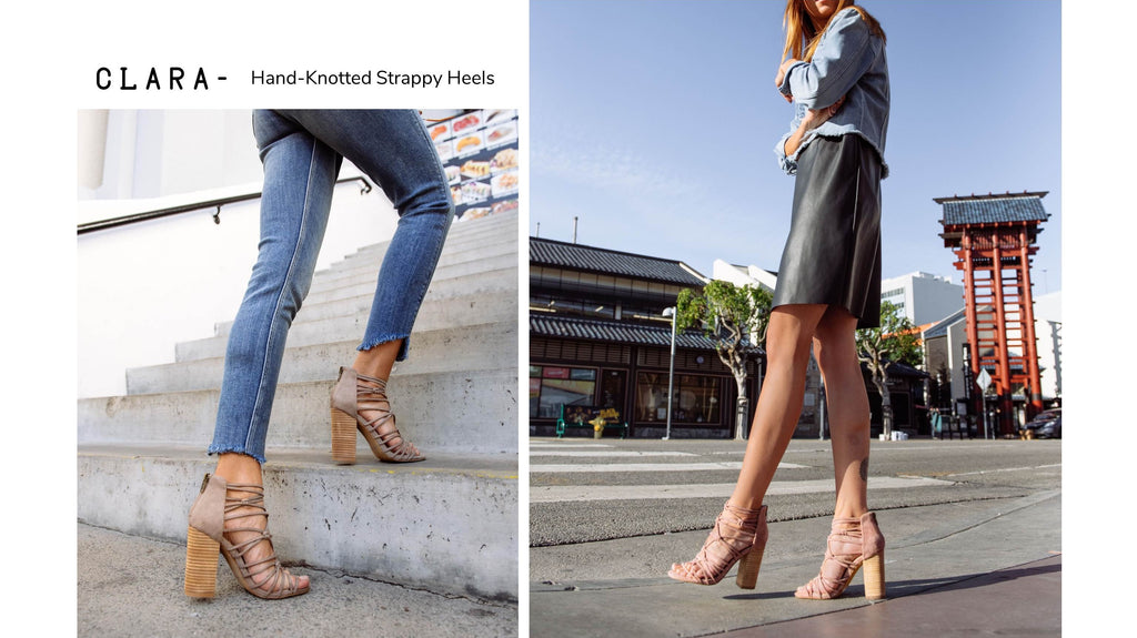 Clara - Hand Knotted Strappy Heel