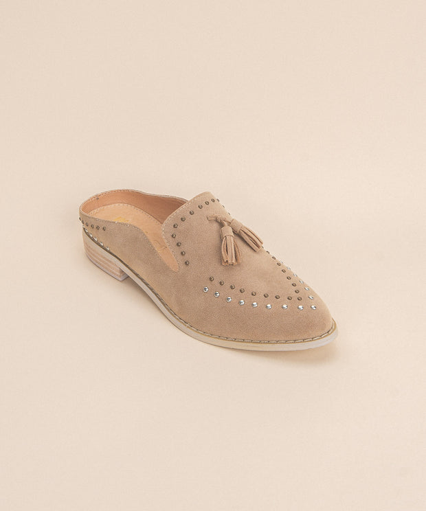 The Adline | Studded Loafer Mule - FINAL SALE