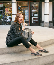 Adline charcoal Loafer Mule