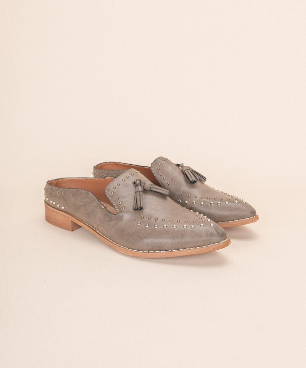 Adline grey Loafer Mule