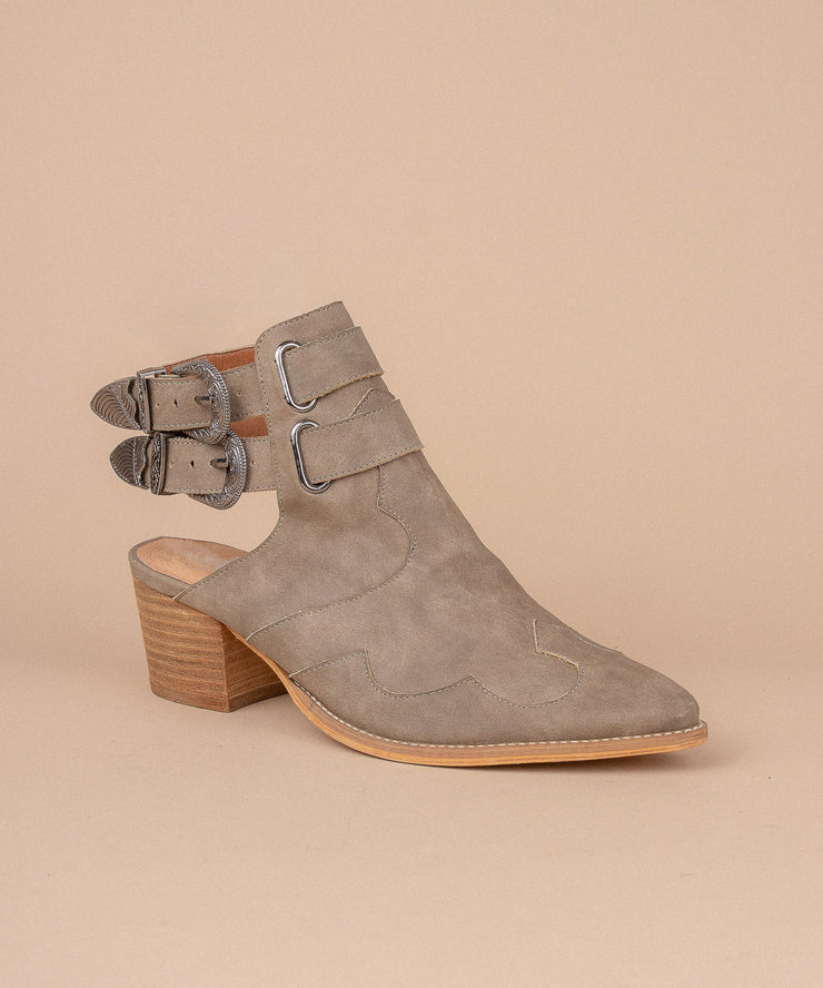 Altair taupe Bohemian Western Bootie