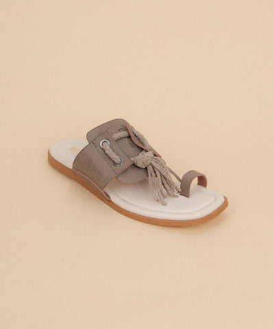 The Amelia Khaki | Funky Rope Fringe Sandal - FINAL SALE (LAST PAIR)