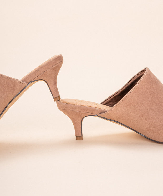 Anya Rose | Pointed Kitten Heel Mule