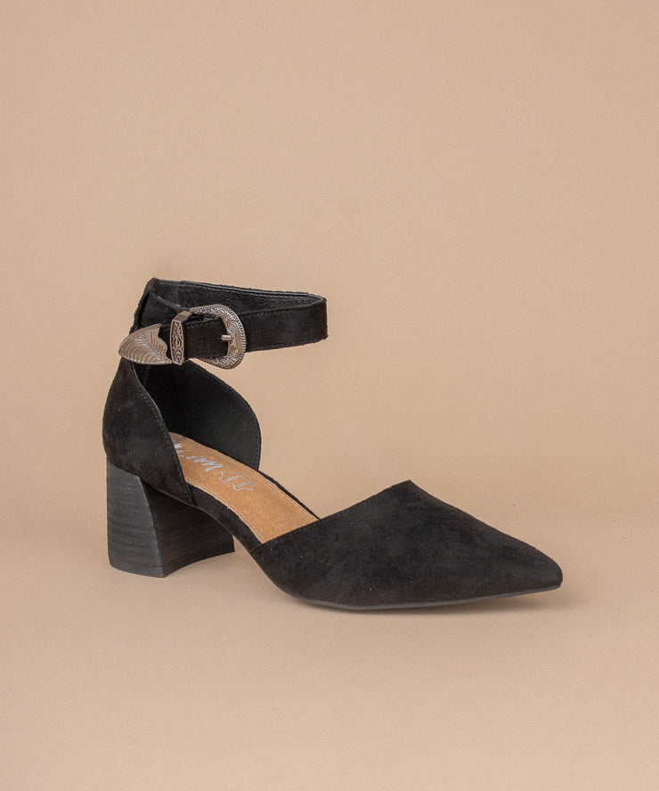 Avenue black D'Orsay Low Heel