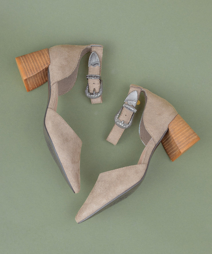Avenue grey D'Orsay Low Heel