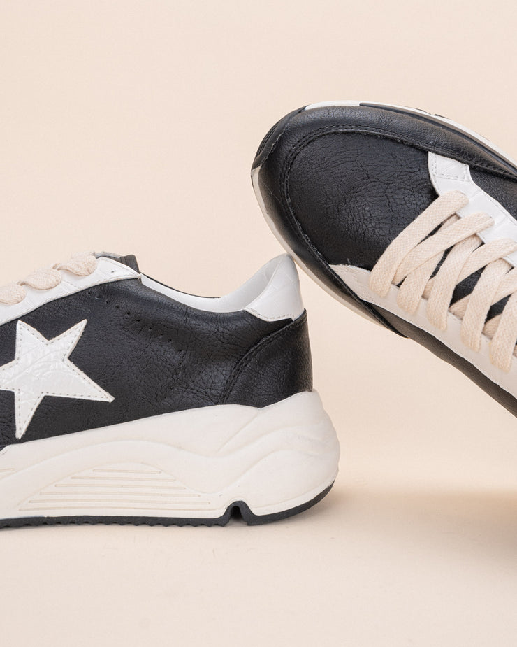 Avery Black | Star Platform Sneaker