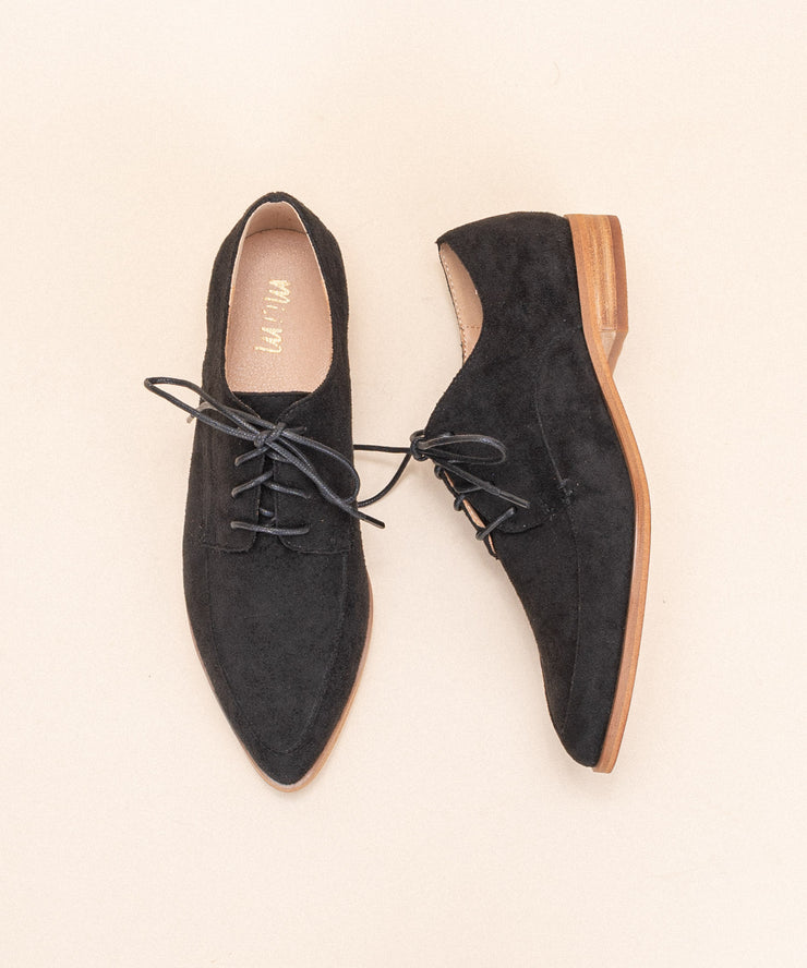 Bailey Black | Suede Loafer