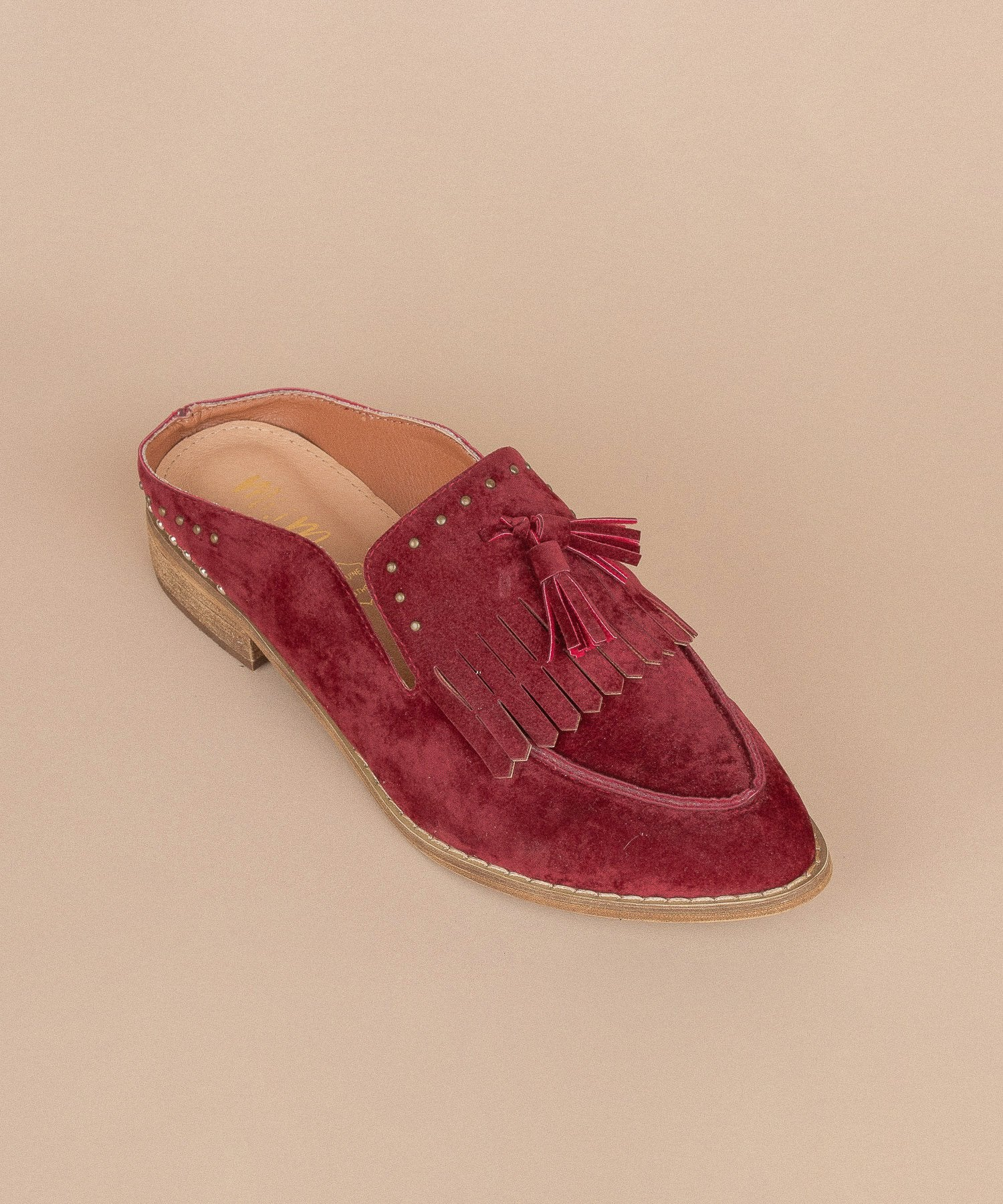 The Berlin | Tasseled Faux Suede Loafer Mules
