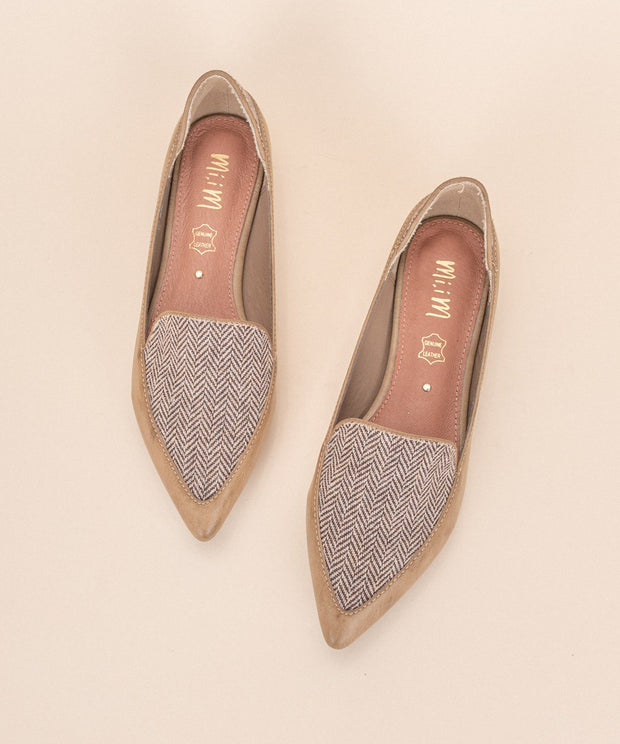 Blake khaki Chevron Business Flat