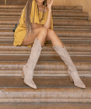 Bohemian taupe Western Knee High Boot
