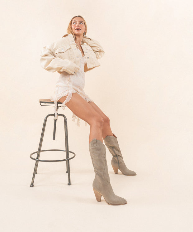 The Bohemian | Western Knee High Boot