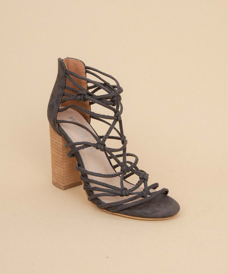 Clara dark-grey Boho Knotted Heel