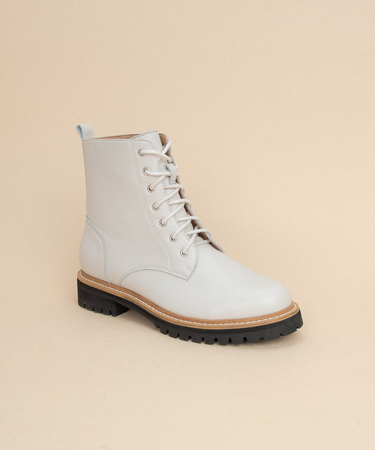 Drew white Contemporary Military Boot