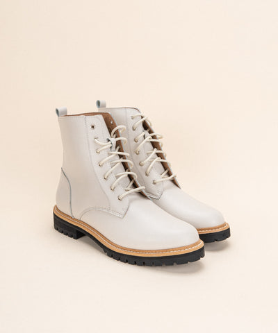 The Drew White | Contemporary Military Boot