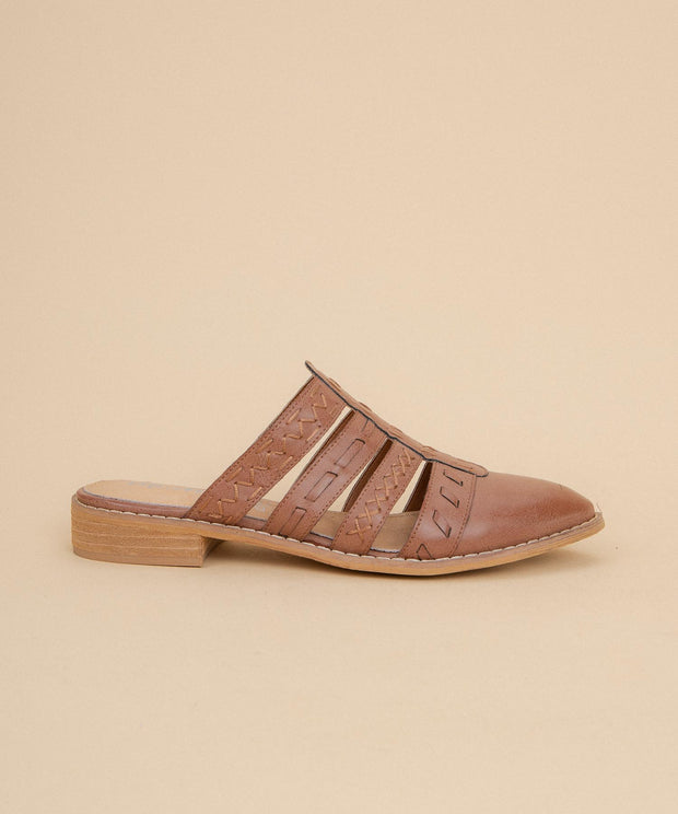 Elina dusty-rose Dutch-Inspired Spring Mule