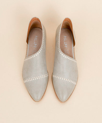 Emma mint-grey Asymmetric Closed-Toe Flat