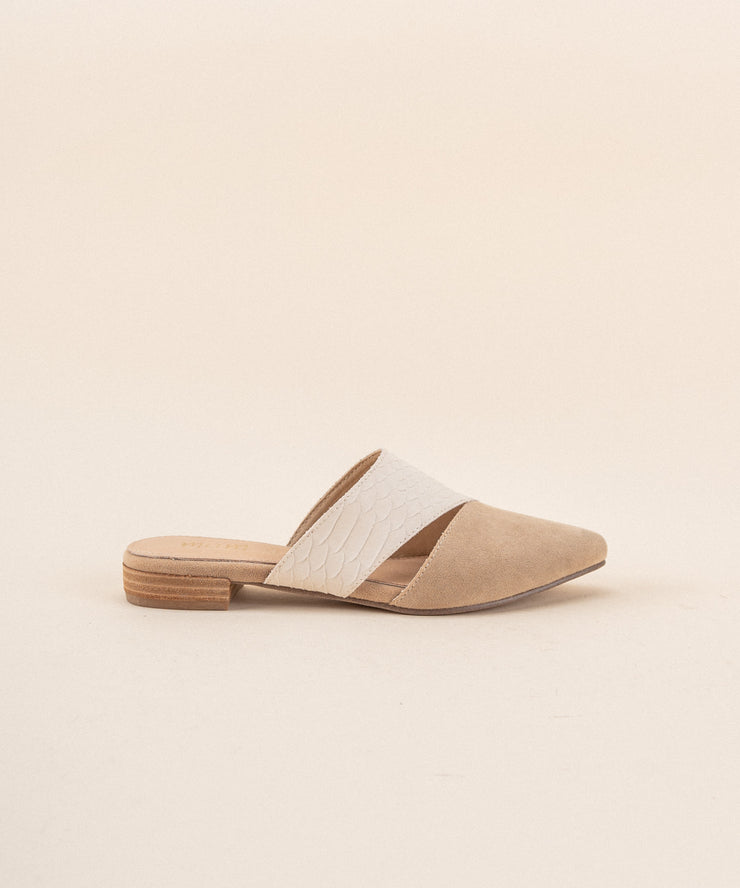 The Epic Almond & Camel | Two-Toned Pointed Business Mule