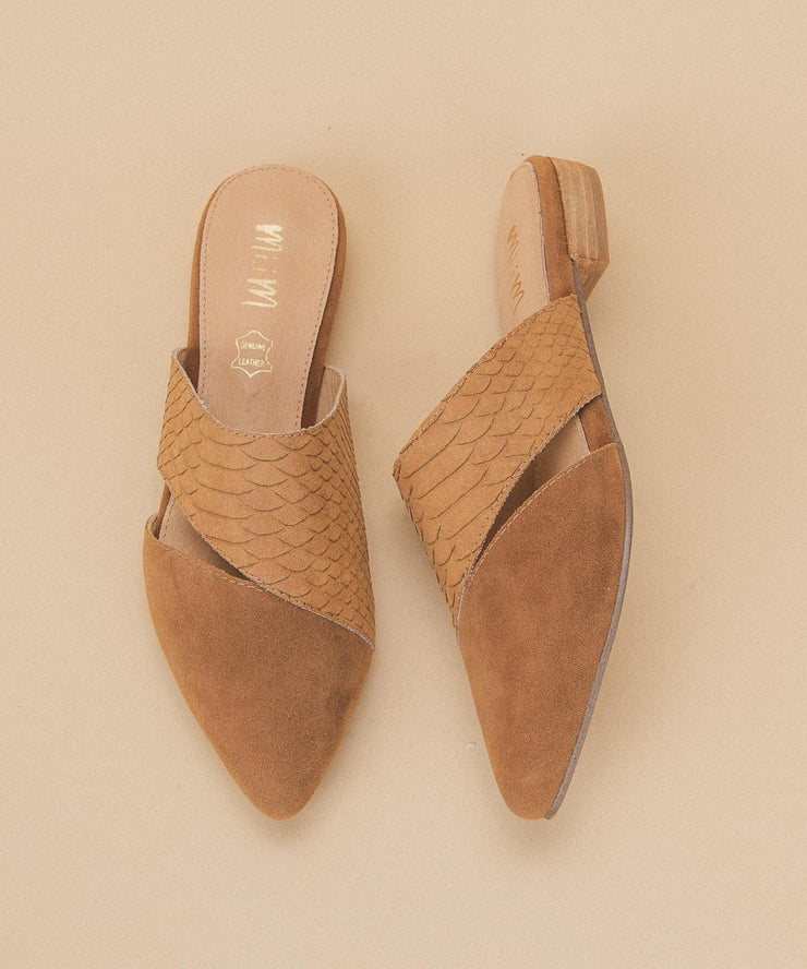 Epic camel Two-Toned Pointed Business Mule