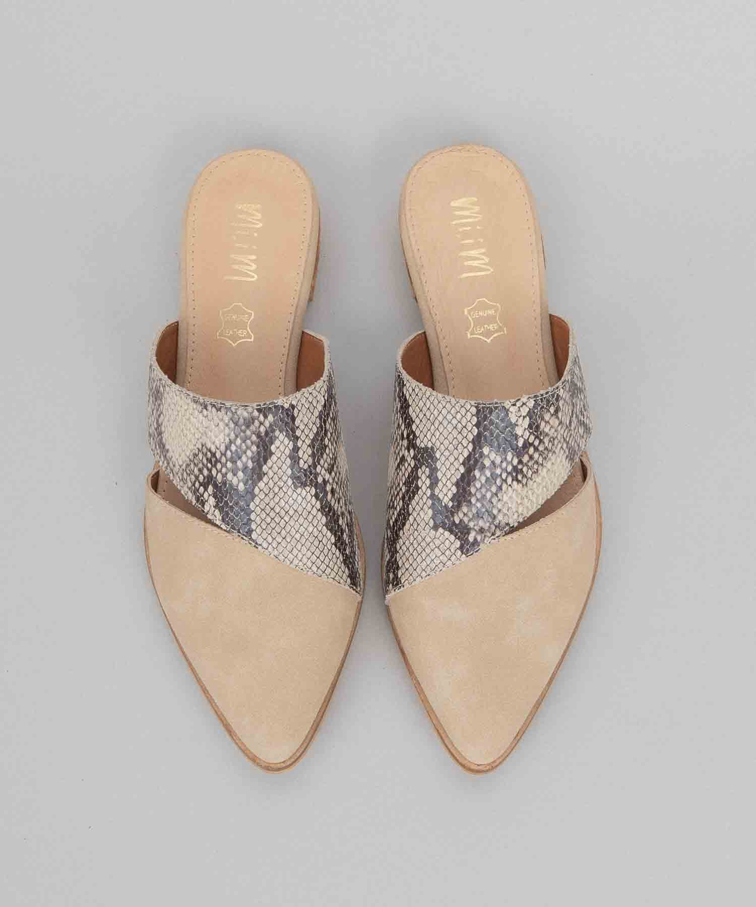 Epic snake Two-Toned Pointed Business Mule