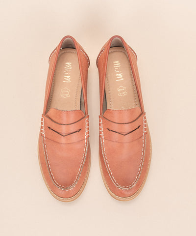 Eris brick Bright Vintage Style Loafers