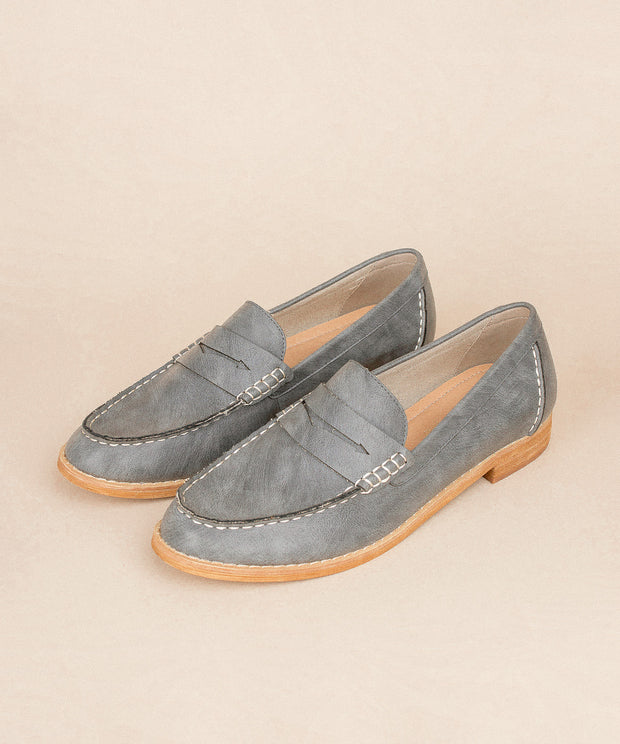 Eris charcoal Bright Vintage Style Loafers